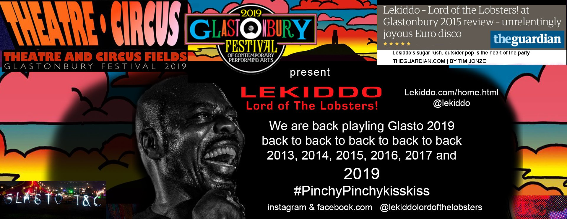 LEKIDDO - Lord of The Lobsters! live at Glastobury Festival 2019 #PinchyPinchykisskiss