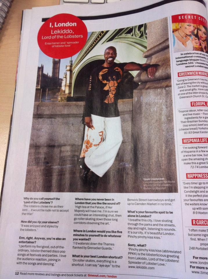 TimeOutLondon I,London                thanks LEKIDDO - Lord of The Lobsters! #PinchyPinchykisskiss tweet