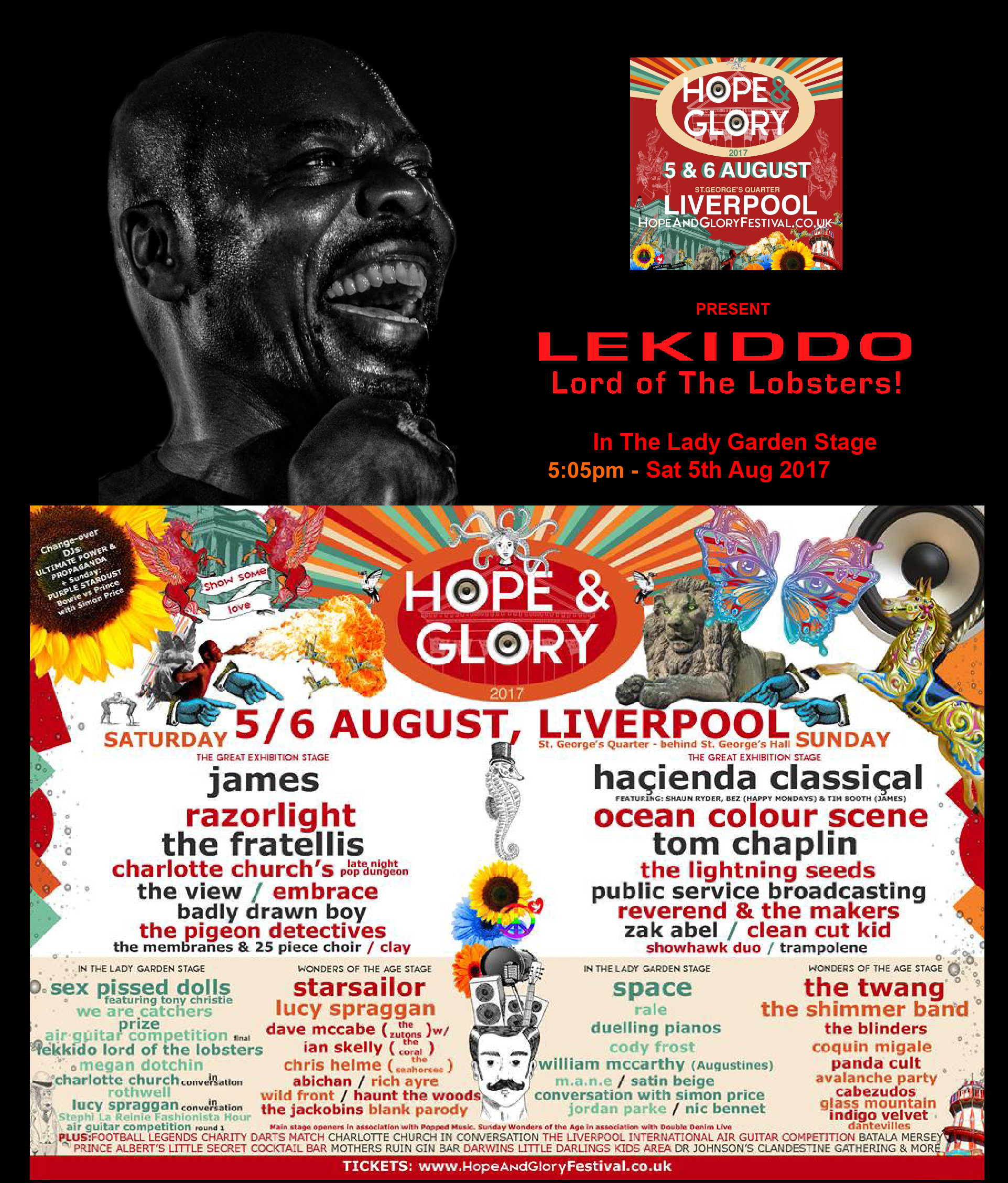 LEKIDDO - Lord of The Lobsters! live In the Lady Garden Stage 5tth August 2017